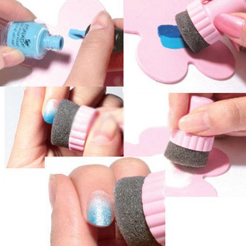 20 uppsättning nagelkonst svampstämpel stämpling polsk mallöverföring DIY Design Kit Deco