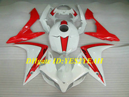 fairing r1 white red 2021 - Injection mold Fairing kit for YAMAHA YZFR1 07 08 YZF R1 2007 2008 YZF1000 ABS Red white Fairings set+Gifts YF03