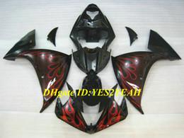 $enCountryForm.capitalKeyWord Canada - Injection mold Fairing kit for YAMAHA YZFR1 09 10 11 12 YZF R1 2009 2010 YZF1000 Red flames black Fairings set+Gifts YG01