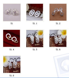 Wholesale Wholesale Country Floral - 10pcs lot Mixed Order Floral Country Style CZ Zircon Zriconia 925 Sterling Silver Plated Stud Earrings