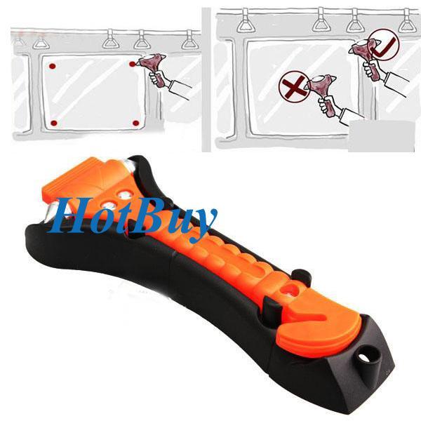 best selling 2 in 1 Car Seat Belt Cutter Emergency Tool + Emergency Hammer Window Punch #2329