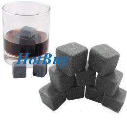 Wholesale Glacier Rocks Soapstone - Whiskey Whisky Scotch Soapstone Cold Glacier Stone Ice Cubes Rocks 9pcs set #2324