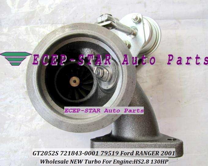 GT2052S 721843-0001 721843-5001S 721843 79519 7218430001 Turbo Turbine Turbocharger For Ford Ranger 2.8L 2001- Power Stroke HS2.8 130HP