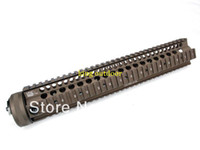 Wholesale Hand Guard M16 - LaRue 13.2 inch Hand Guard Rail System for AEG M4 M16(Coyote Brown) free shipping