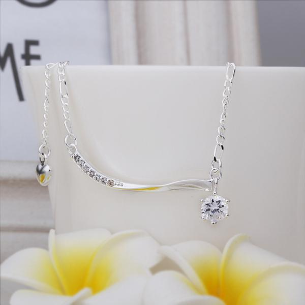New Arrival!!Wholesale Sterling 925 Silver Anklets,925 Silver Fashion Jewelry,Inlaid Stone Hanging Single Drill Anklets .12