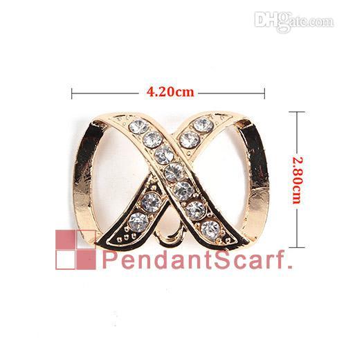 12 UNIDS / LOTE Caliente de La Manera DIY Collar de la Bufanda de La Joyería Hallazgos Encanto de Aleación Mental Dorado Rhinestone Diapositiva Fianzas, Envío Gratis, AC0246C
