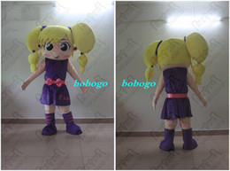 Wholesale Cartoon Sexy Hot - Cartoon Clothing,2014new yellow hair girl costumes hot sale loverly girl mascot costumes,good quality