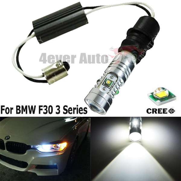 2x 6K White Error Free BA9 64132 Bulbs Kit For BMW F30 3 Series Parking Lights