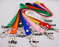 Wholesale Botton Cell - wide 1.5cm neck Strap lanyard ID Card Cell Phone Badge MP5 Holder rivet botton 14color option wholesale