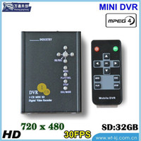 Wholesale D1 Mobile Dvr - 1-CH D1 full real-time SD Card Mobile DVR car video recorder car video recorder TAXI