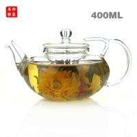 Wholesale Blooming Tea Teapot - Heat-resistant glass teapot,400ml, design of the lid to prevent broken,Blooming Tea,flower tea,Special teapot
