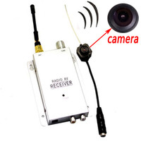 Wholesale Wireless Pinhole Camera System - 2015 NEW Mini Wireless Micro Hidden Spy Camera Nanny Camcorder Pinhole System Free Shipping