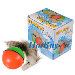 Rolling Pets Toys Canada - Weazel Weasel Rolling Motor Ball Pet Cat Dog Kids Toys Chaser Fun Jumping Moving #2258