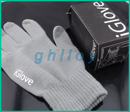 Wholesale Winter Packages - IGlove Screen Touch Gloves Unisex Winter Gloves For Cell Phone Tablet PC with retail package 100pcs lot=50pairs