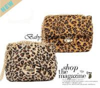 Wholesale Wholesale Boutique Handbags - 13111810-BB Girls Leopard Handbag Kids Fleece Fashion Tiger Purse Lady Mini Bags Metal Sling Bags for Boutique Free Shipping