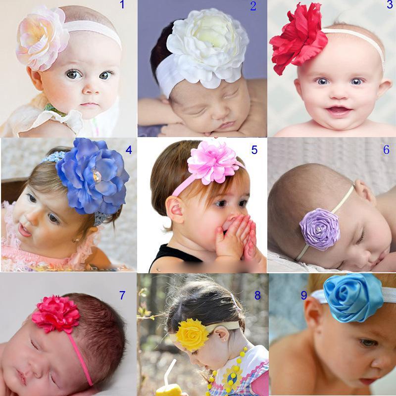 Toppmärke baby amour cute * 9 färger topp baby tjejer nya julband ros blomma huvudband barn hår tillbehör MB013