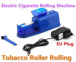 Wholesale Cigarette Injector Machine Wholesale - Electric Cigarette Tobacco Roller Rolling Injector Machine Maker Cigarette Machine EU Plug with Retail Package