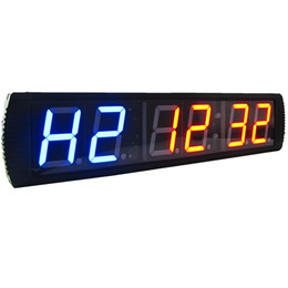 Wholesale Indoor Timers - [Ganxin] New Product 4 inch Display Gym Exercise and Rest Time Blue LED Count Down Up Days Timer Indoor Decor Wall Digital Clock
