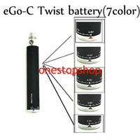 Wholesale Ego Twist 5pcs - Top quality Ego C twist colorful Ego-c Twist Variable Voltage battery 3.2-4.8V 650 900 1100 1300mAh Electronic Cigarette 5pcs