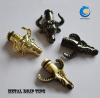 Wholesale Dragon E Cig - Best price e cig mouthpiece skull dragon snake animal drip tip metal e cig 510 drip tips fit for ego-t vivi nova dct e cigarette ecigs