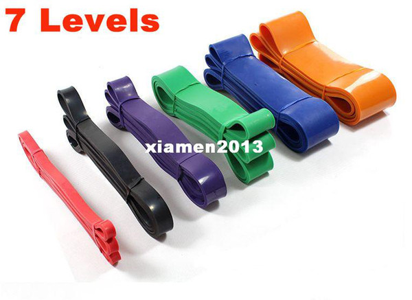 Crossfit Resistance Latex Bands Body Training Fitness Powerlifting Assisted Pull Up Loop Band 7 Levels