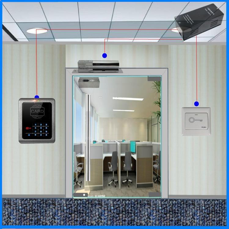Access Control Doors : Access control set glass door