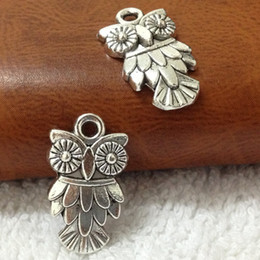 $enCountryForm.capitalKeyWord NZ - Cheap Hot Selling 100pcs 11X19MM Antique Silver Owl Charms Pendant Jewelry Accessories free shipping
