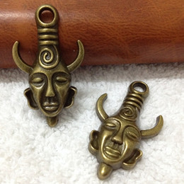 Wholesale Avatar Pendant - Free Shipping 19x32mm 50pcs Antique Bronze Metal Alloy Avatar- supernatural Charms Pendant Jewelry connection Jewelry Findings