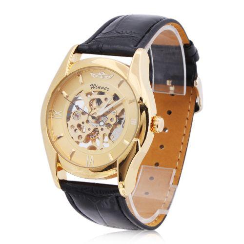 Orologio sportivo da polso sportivo da uomo, impermeabile, con cinturino in pelle nera, orologio da polso sportivo con cinturino in pelle nera