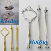 Wholesale Wedding Cake Stand Handle - Wedding Party 3 Tier Cake Plate Stand Center Handle Rods Fitting Tool Hardware #1504