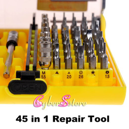 Wholesale 45 in JACKLY JK A Precision Electron Screwdriver Tools Tool For Iphone Samsung All Home Devices CellPhone Repair Kits