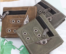 Wholesale Camo Wallets - CANVAS WALLET MILITARY COMMANDO STYLE ARMY CAMO PATTERNS AND MULTIPLE COLORS ROTHCO Vintage wallet for men