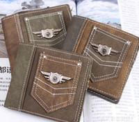 Wholesale Cheap Canvas Purses - New Vintage punk Army Canvas Wallet Men's Pockets Card Clutch Cente Mility Zipper Bifold Purse cheap wholesale
