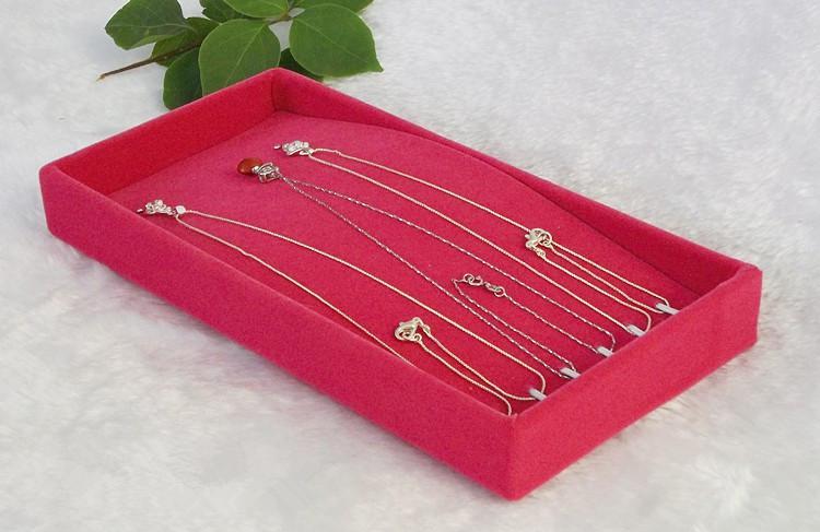 Envío gratis terciopelo negro 3 unids / lote pulsera titular del collar bandeja organizador exhibición de la joyería escaparate pequeño joyero