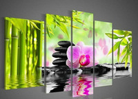 Wholesale Bamboo Forest Painting - Bamboo forest Hot selling Handcraft Modern Wall Deco Oil Painting on Canvas D145(5PC)