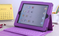 Wholesale Ipad Keyboard Folio Pink - Dropship Tablet PC Cases & Bags Wireless Leather Bluetooth Keyboard Case for iPad 4 &5 iPad Air Colorful Cover Case