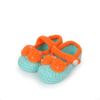 Wholesale Crochet Shoes Baby Prices - High Quality Low Price Warm Baby Handmade First Walker Shoes Crochet Knit Shoes Blue Nursling Socks Free Ship DMM6-3*5