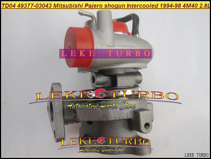 TD04 49377-03043 49377-03040 49377-03053 ME201637 Turbo enfriado por aceite para MITSUBISHI PAJERO SHOGUN Intercooled 1994-98 Motor 4M40 2.8L 125HP