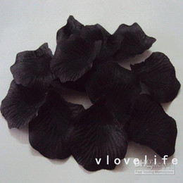 Wholesale Hot Sellingfree Ship - Wholesale - Hot sellingFree shipping &(100pcs bag) Black Silk Rose Petals Wedding Party Flower Favors