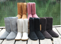 Wholesale Dark Brown Knee Boots - 2016 Chirstmas gift High Quality BGG Women's Classic tall Boots Womens boots Boot Snow boots Winter boots leather boots boot