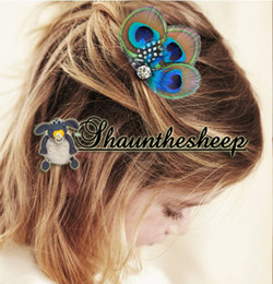 $enCountryForm.capitalKeyWord Canada - spotted feather peacock children's hair clip hairpiece accessories GIRL feather hair band