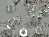 Wholesale 925 Silver Earring Butterfly - Hot Sales 925 silver plated ear plugs ear hat ear plug earrings butterfly earrings accessories 500pcs=250 pairs