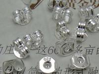 Wholesale Butterfly Backing Earrings - Hot Sales 925 silver plated ear plugs ear hat ear plug earrings butterfly earrings accessories 500pcs=250 pairs