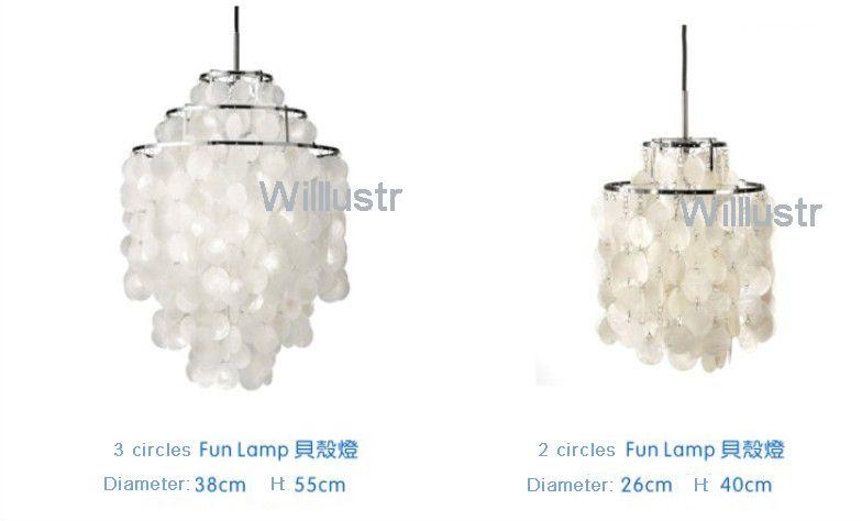 Verner Panton Design Shell lamps
