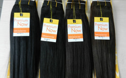 Wholesale Human Hair Synthetic Mix - Free Shipping Premium Now Yaki Human Hair Mixed Synthetic Hair Extension Blended Machine Hair Weaving Hair Weft 4#