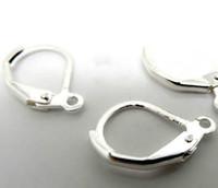 nickels silber großhandel-Heißer Verkauf 16x11mm 300Pcs / lot Silber überzogene Ohrhaken Haken Nickel frei Schmuck Erkenntnisse Komponenten DIY