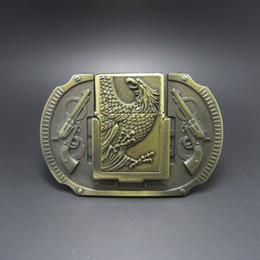 Aigle en laiton antique en Ligne-Boucle de ceinture (laiton antique Eagle Guns Briquet) Livraison gratuite