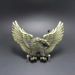 Wholesale Antique Western Bronze - New Antique Bronze Plated American Pride Wild Life Western Eagle Belt Buckle Gurtelschnalle Boucle de ceinture BUCKLE-WT005AB Free Ship