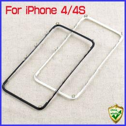 $enCountryForm.capitalKeyWord Canada - For iPhone 4 4S 4G 4GS Front LCD Frame Bracket Holder Housing + 3M Adhesive Black White MOQ20 PCS China Post