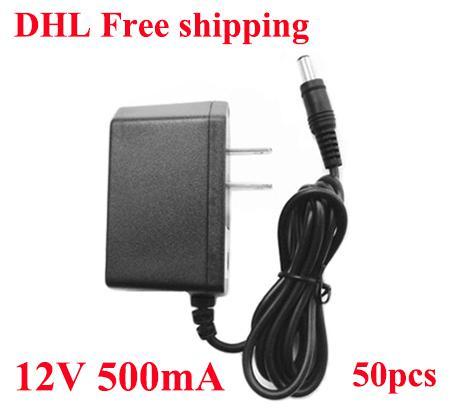 고품질 AC 100-240V DC 12V 500mA / 0.5A 전원 공급 장치 12V 어댑터 US Plug / DHL 무료 배송